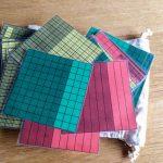 Los cuadrados decimales material manipulativo para aprender matemáticas