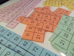 tablero numérico del 100 puzzle en aprendemos junto al mar matemáticas manipulativas