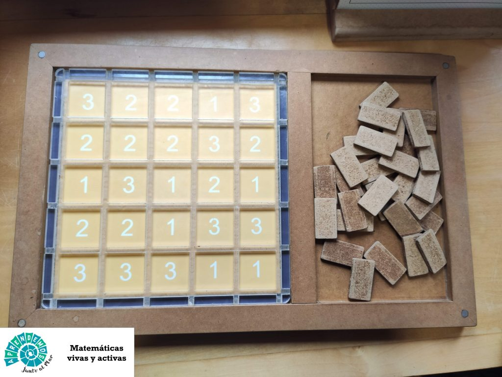 Cercado matemáticas manipulativas juego lógico