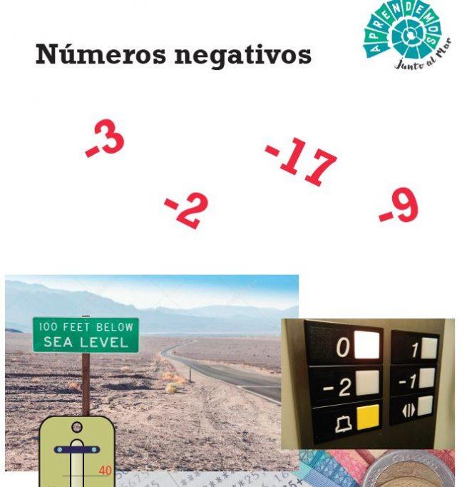 imprimible gratuito de números negativos