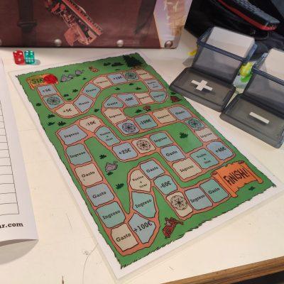 juego de mesa imprimible matematicas manipulativas
