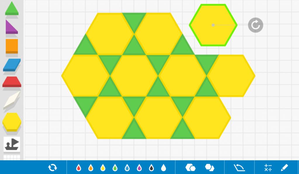 pattern blocks online juego matemático