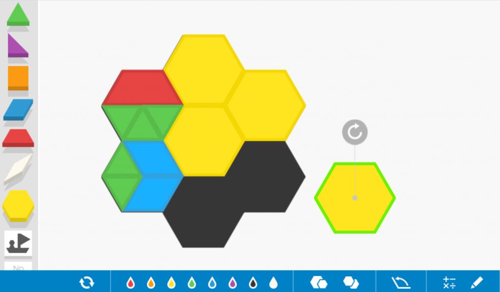 figuras geométricas con pattern blocks