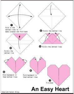 origami corazón arcoiris matemáticas manipulativas geometria