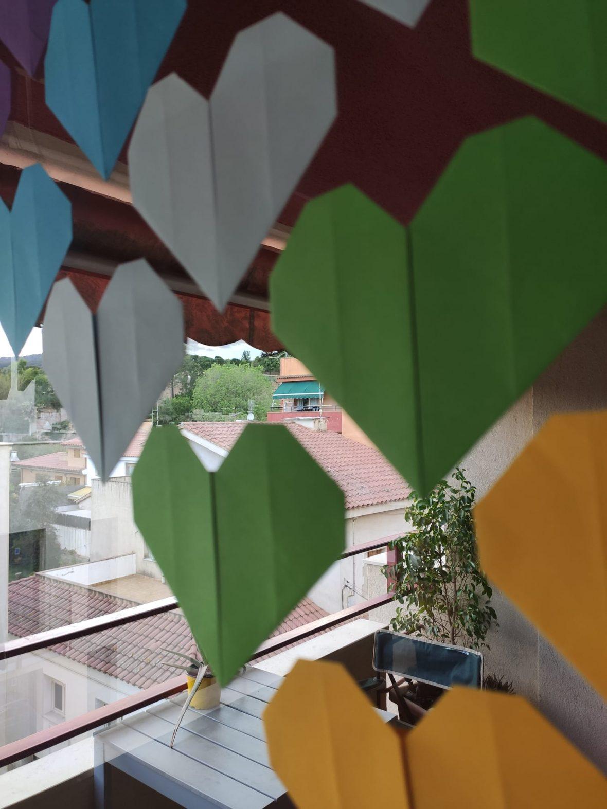 corazones de origami fáciles de hacer
